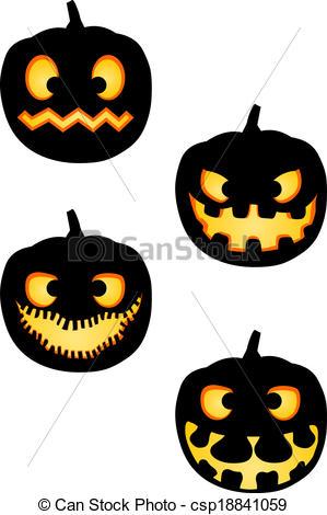 299x470 Halloween Pumpkin Silhouettes Pack. A Pack Vector Clipart
