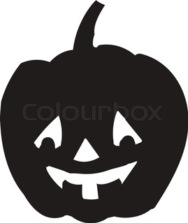 269x320 Pumpkin Silhouette Icon Of The Day Halloween Isolated On White