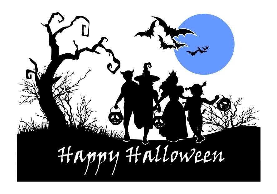 Halloween Scene Silhouette