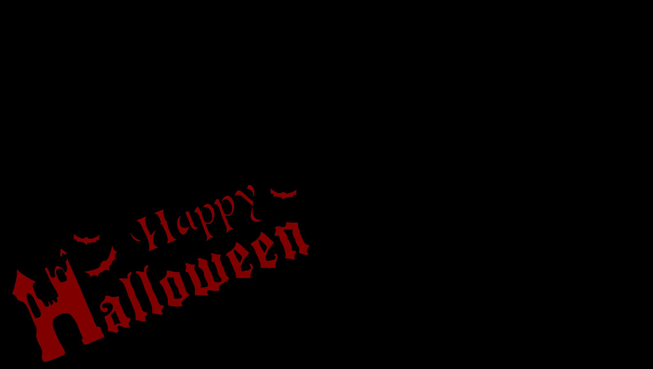 2257x1276 Happy Halloween Scene Silhouette Icons Png