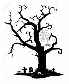 236x285 Halloween Graveyard Silhouettes