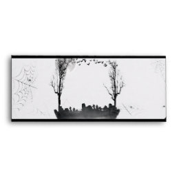 260x260 Halloween Graveyard Silhouette Office Products Amp Supplies Zazzle