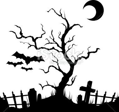 380x359 28 Images Of Creepy Halloween Silhouette Template