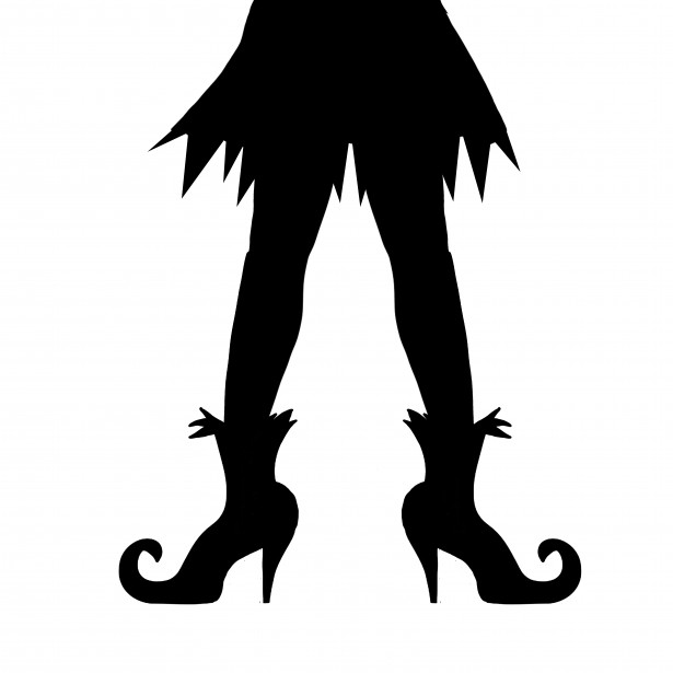615x615 Witches Legs Halloween Silhouette Free Stock Photo