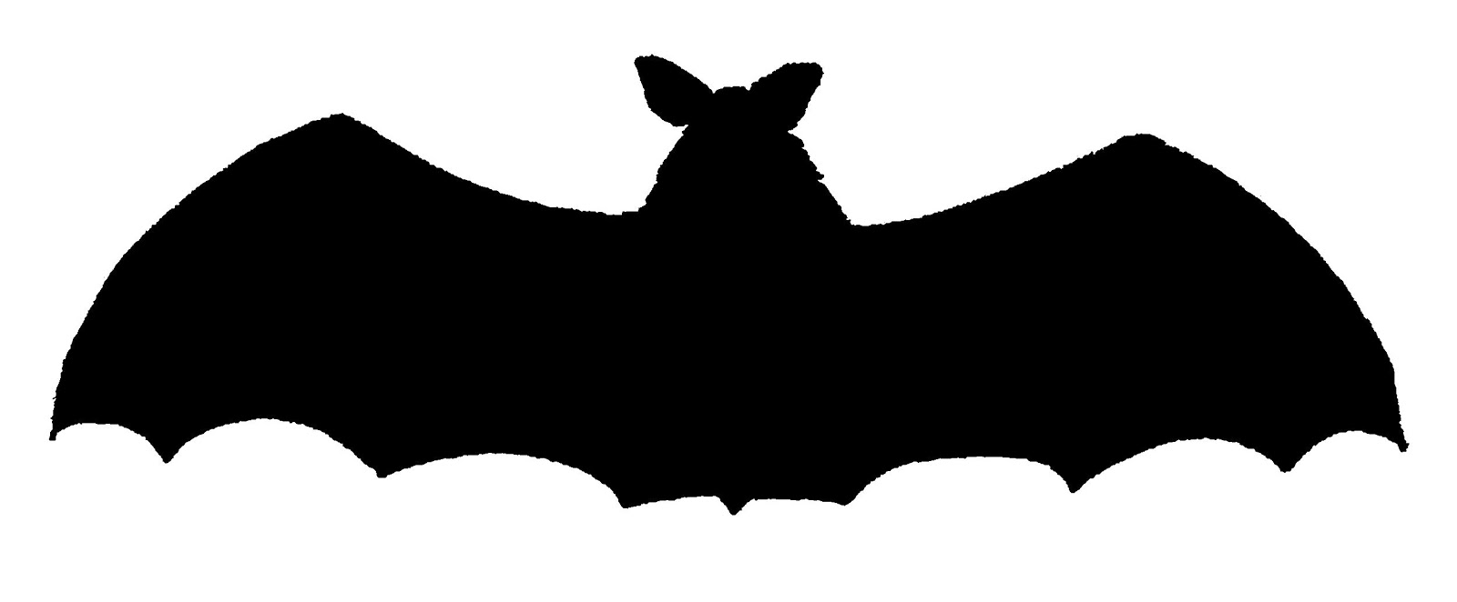 1600x662 Digital Stamp Design Royalty Free Halloween Bat Silhouette
