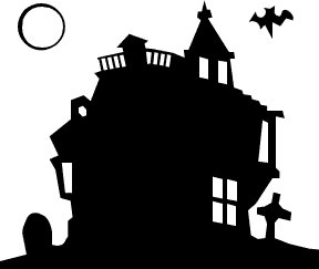 288x243 Halloween Silhouette Clipart Clip Art With Frame By Pinkpueblo
