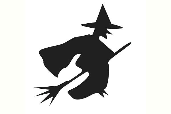 600x400 Witch Silhouette Template Room On The Broom Pumpkin Stencil