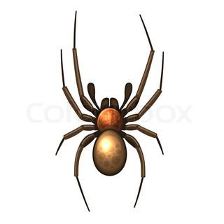 320x320 Halloween Spiders Silhouettes Symbols Set Black Isolated Stock