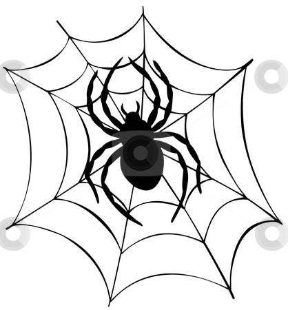 418x450 Spider Web Clipart Halloween Decoration