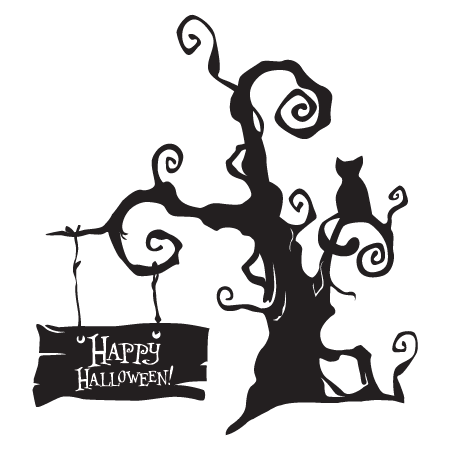 451x451 Spooky Halloween Tree Wall Decal
