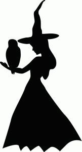162x300 Silhouette Online Store Witch With Owl Halloween Svg Files