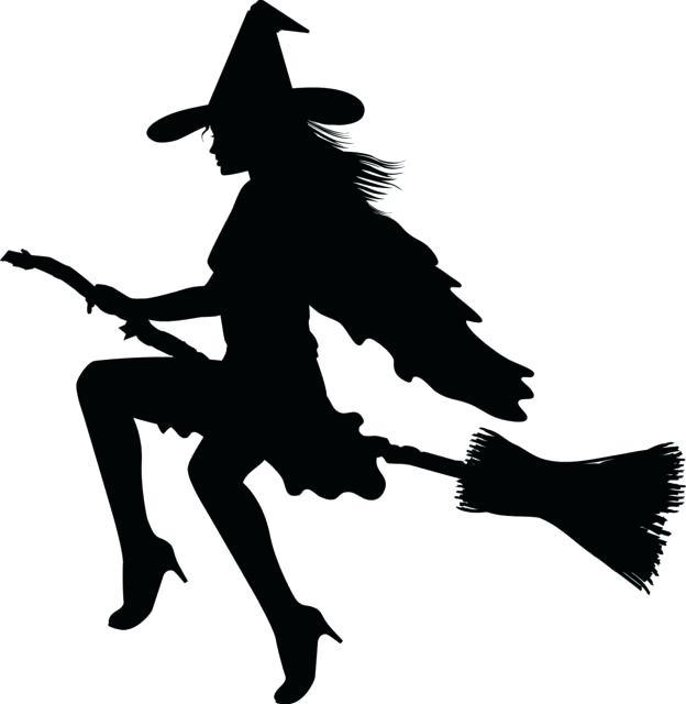 624x640 Witch Silhouette Template Shadow 9 Free Halloween Silhouette
