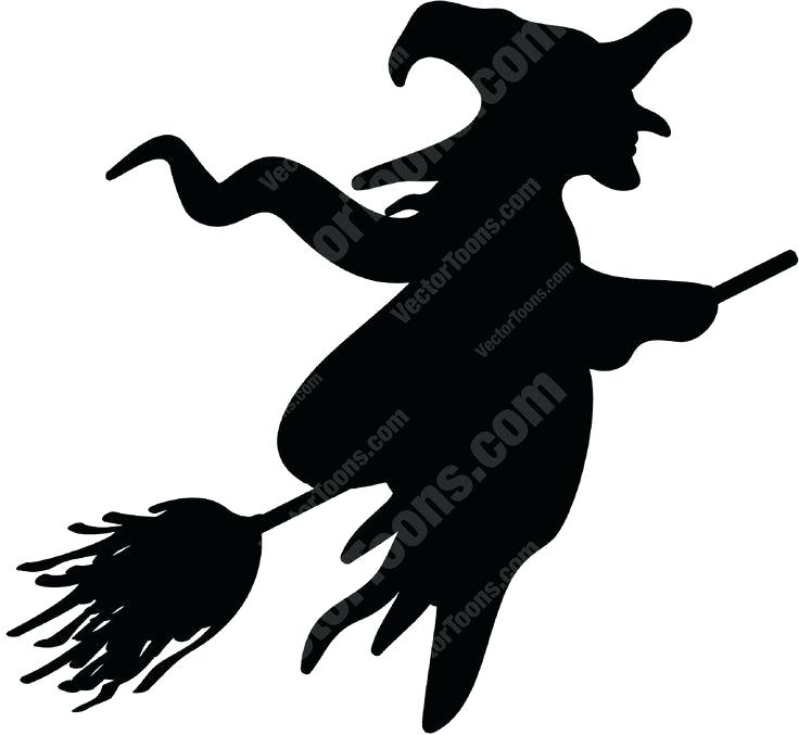 736x677 Witch Window Silhouette Witch Silhouette Flying With Broomstick