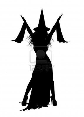 285x400 Silhouette Of Halloween Witch On White Background Vinyl Projects