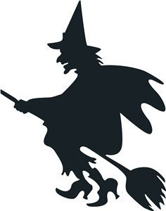 236x300 Witch Silhouette Halloween Witch Silhouette
