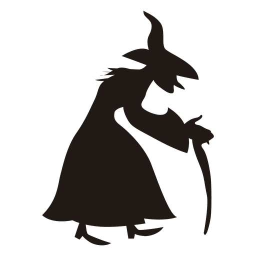 512x512 5 Halloween Witch Silhouettes