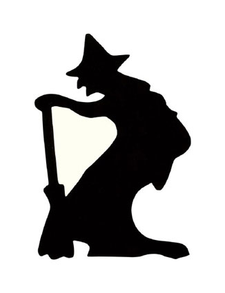 326x425 Halloween, Witch Silhouette Clipart Panda