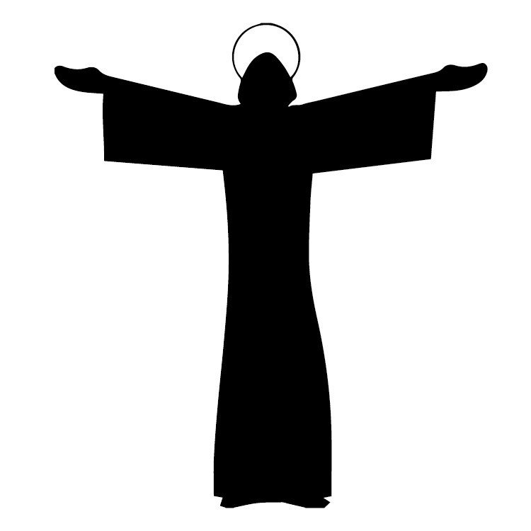 750x750 Halo Christ Silhouette Vinyl Car Sticker Decal Stickem Vinyl