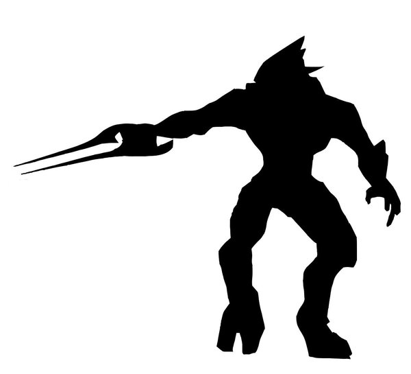 600x545 Halo Elite Zealot Silhouette By Silvernecklace