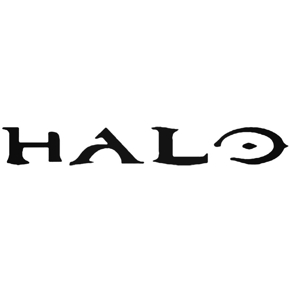 1000x1000 Halo Logo Silhouette Decal