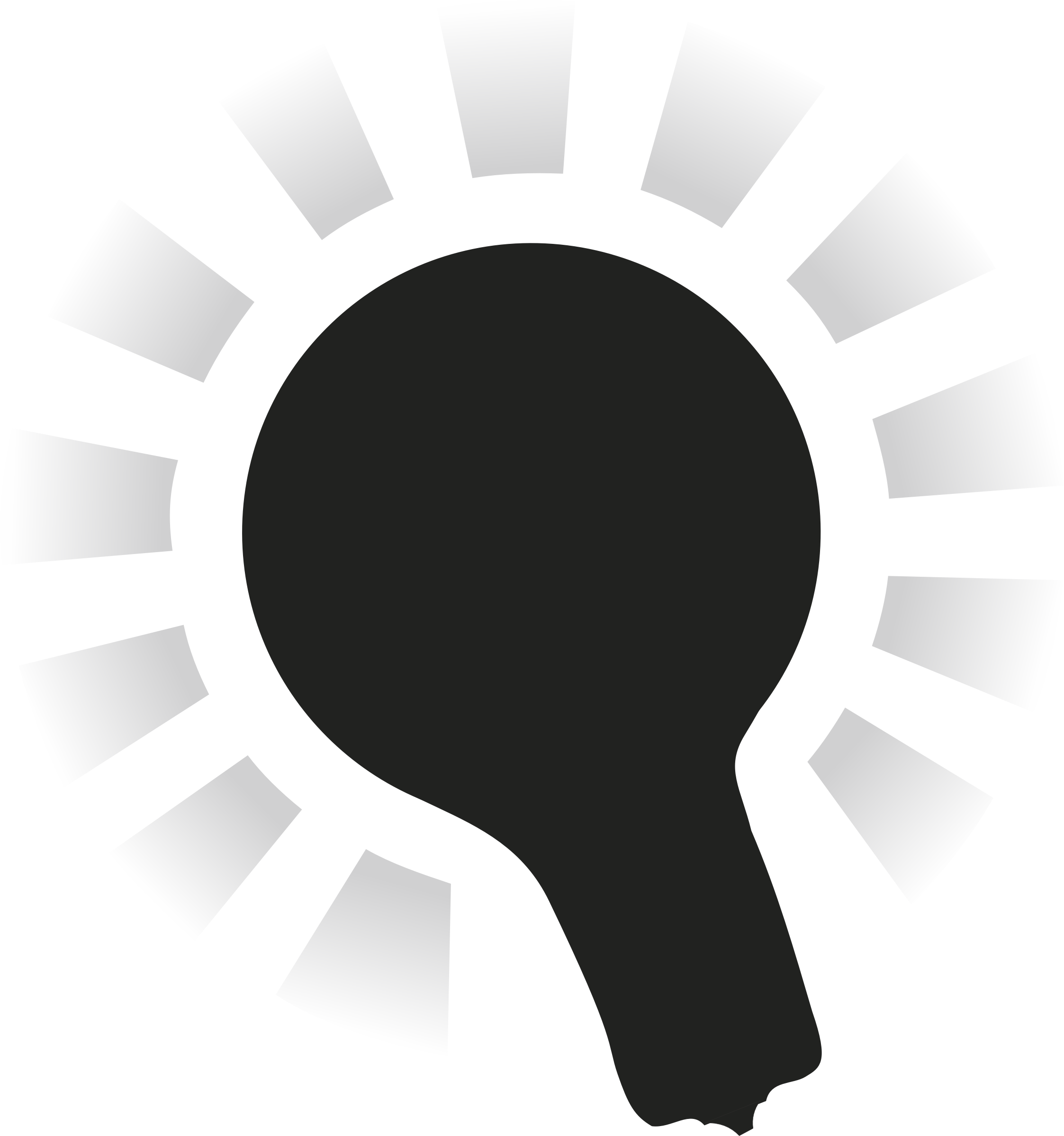 2246x2399 Lightbulb Black With Halo Icons Png