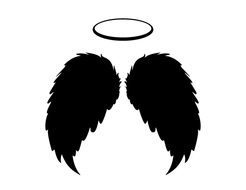 792x612 Black Angel Wings And Halo Vector, Png And Jpgs Includ