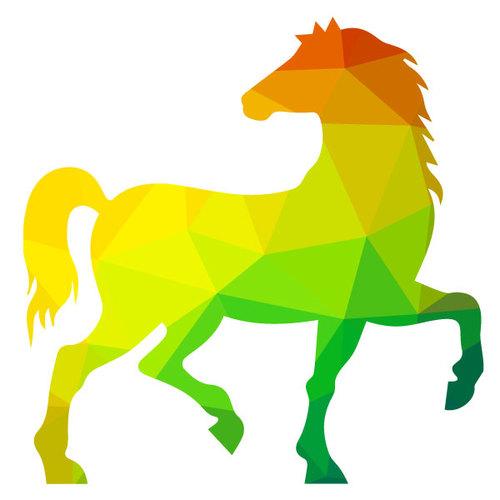 Halter Horse Silhouette