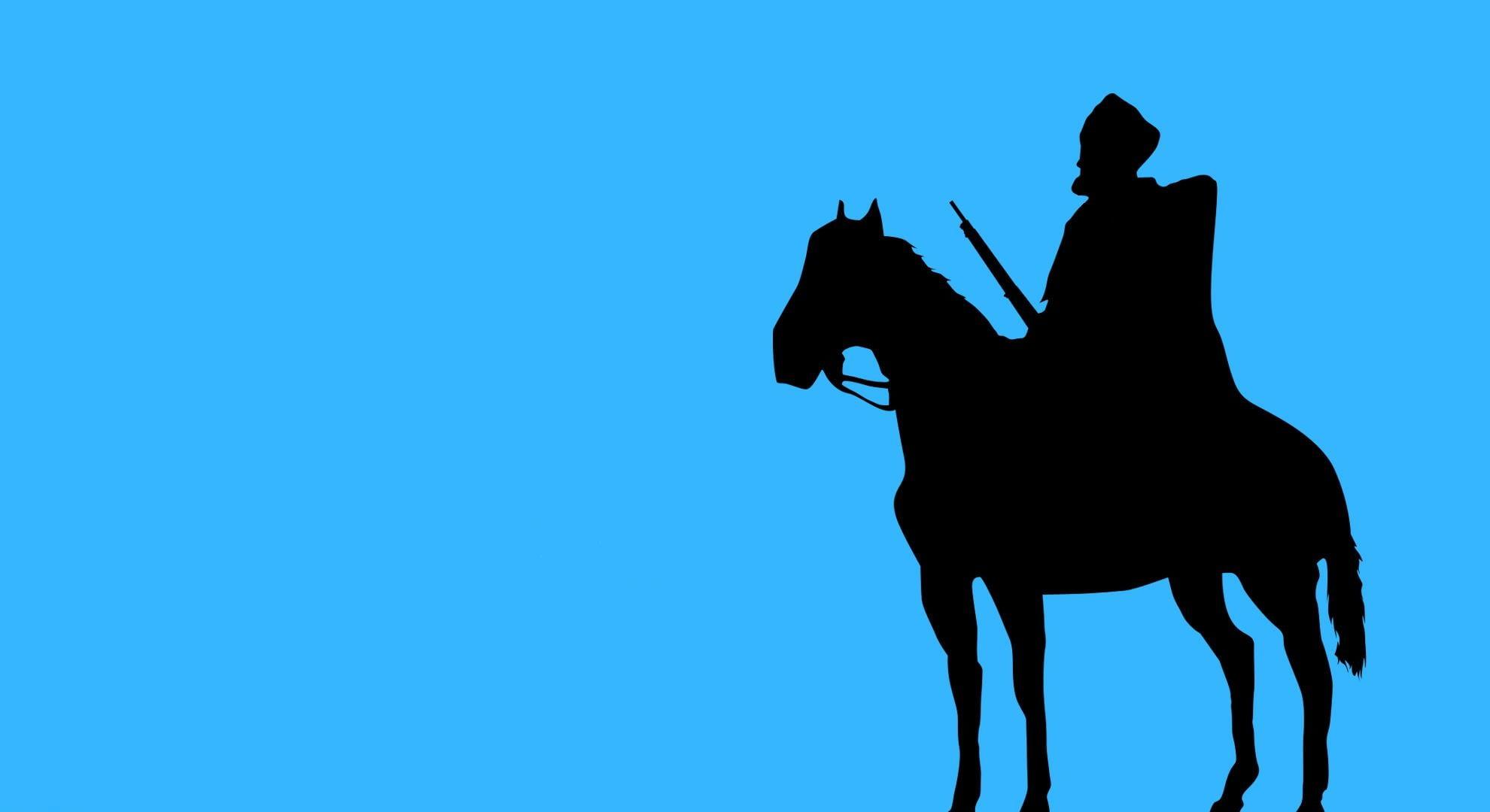1980x1080 Person Riding Horse Silhouette Hd Wallpaper Wallpaper Flare