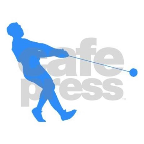 460x460 Blue Hammer Throw Silhouette Tote Bag By Athletesilhouettes