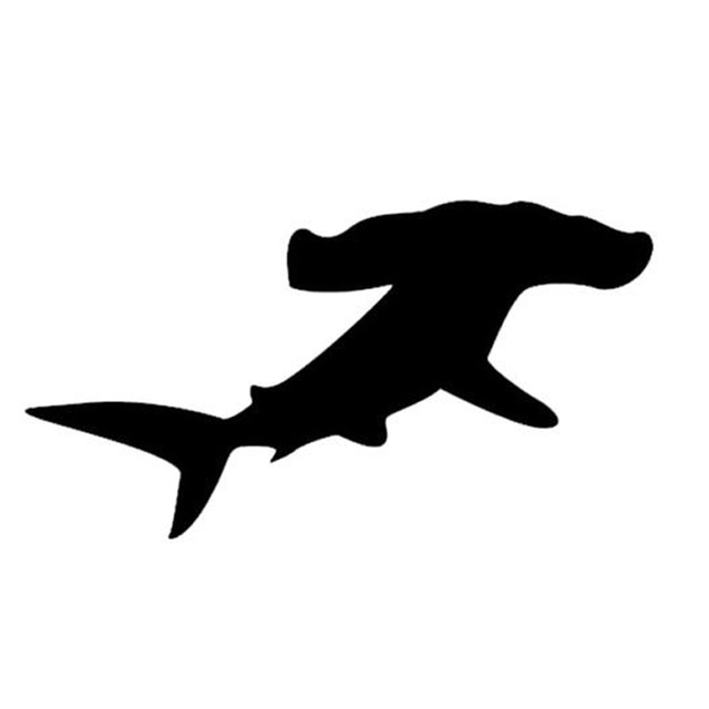 Well known Hammerhead Shark Silhouette at GetDrawings.com | Free for personal  AZ34