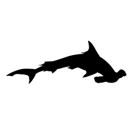 270x270 Hammerhead Shark Silhouette Stencil Free Stencil Gallery