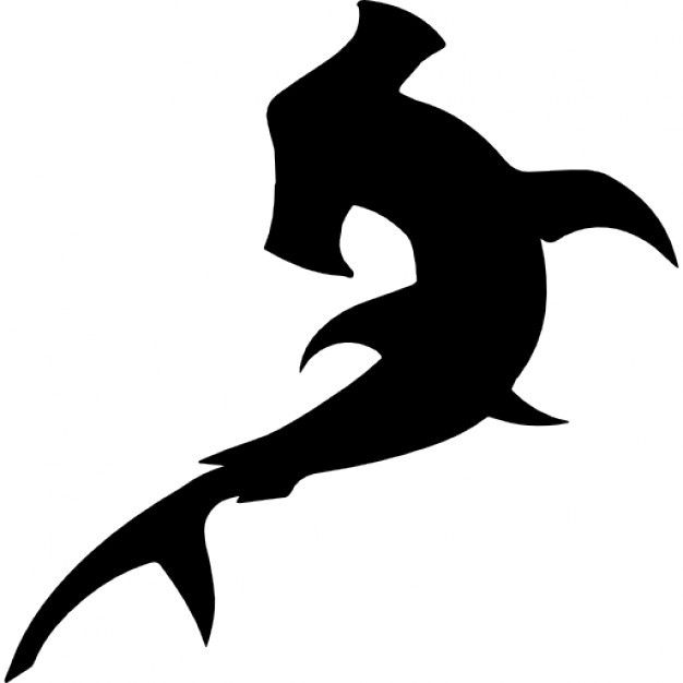 Unique Hammerhead Shark Silhouette at GetDrawings.com | Free for personal  LD21