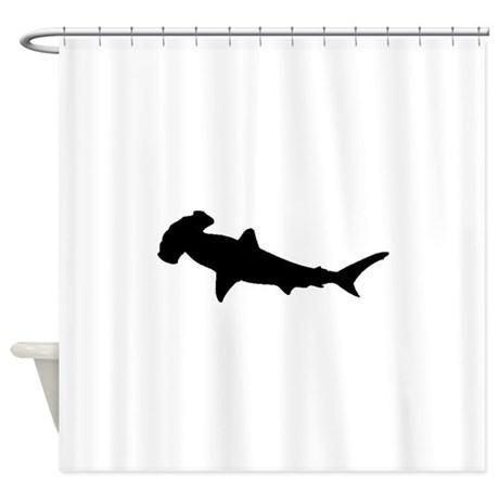 460x460 Hammerhead Shark Shower Curtains