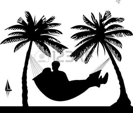 450x383 Silhouette Of Romantic Couple Sun Bathing And Relaxing Of Hammock