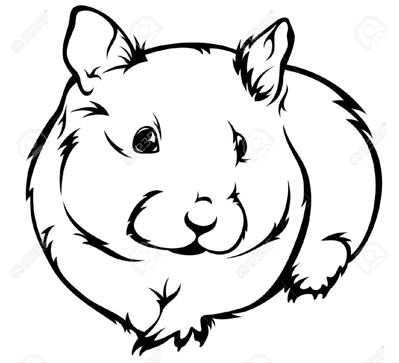 Hamster Clip Art Black And White - Awesome Graphic Library •