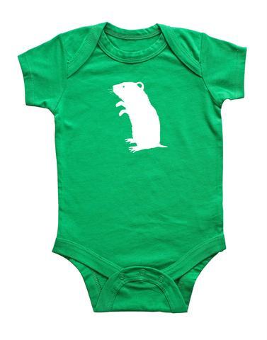 377x480 Hamster Silhouette Baby Bodysuit Rocket Bug