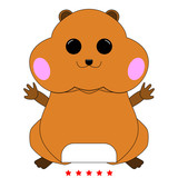 160x160 Hamster Silhouette It Is Icon Stock Image And Royalty Free