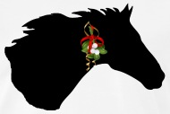 190x127 Horse Silhouette Wit Mistletoe By Stoned Hamster Spreadshirt