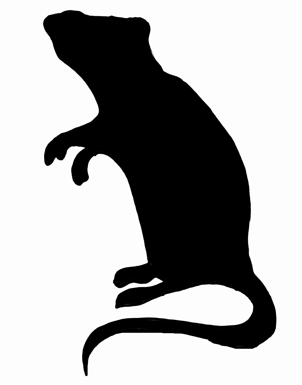 2436x3108 Free Rat Silhouette Clip Art