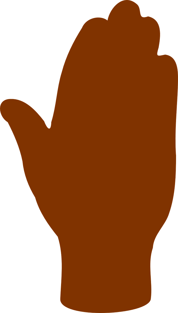 726x1280 Hand Stop Silhouette Human Palm Transparent Image Hand