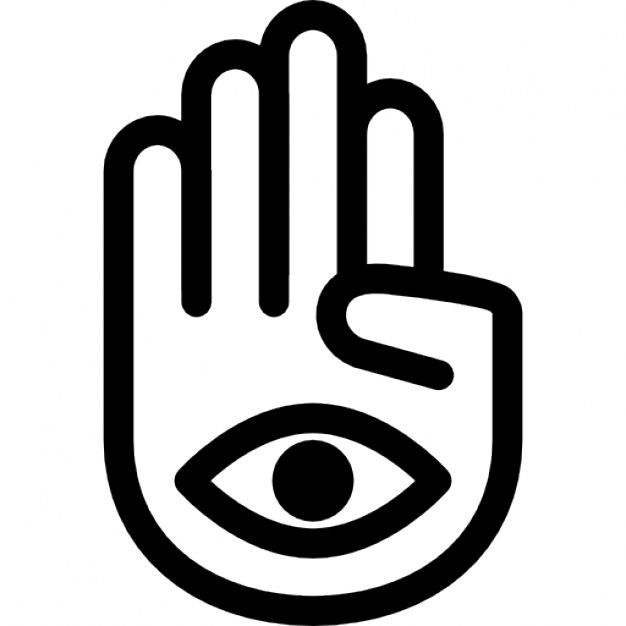 626x626 Hand Palm With One Eye In Mudra Posture Icons Free Download