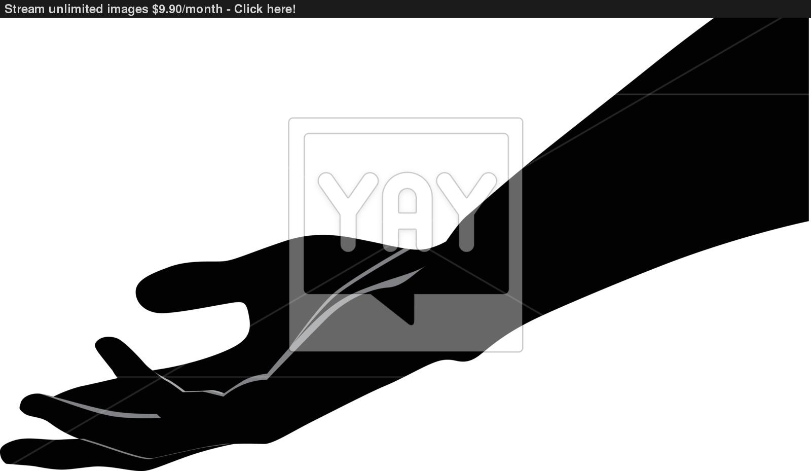 1600x929 Human Hand Palm Up Vector