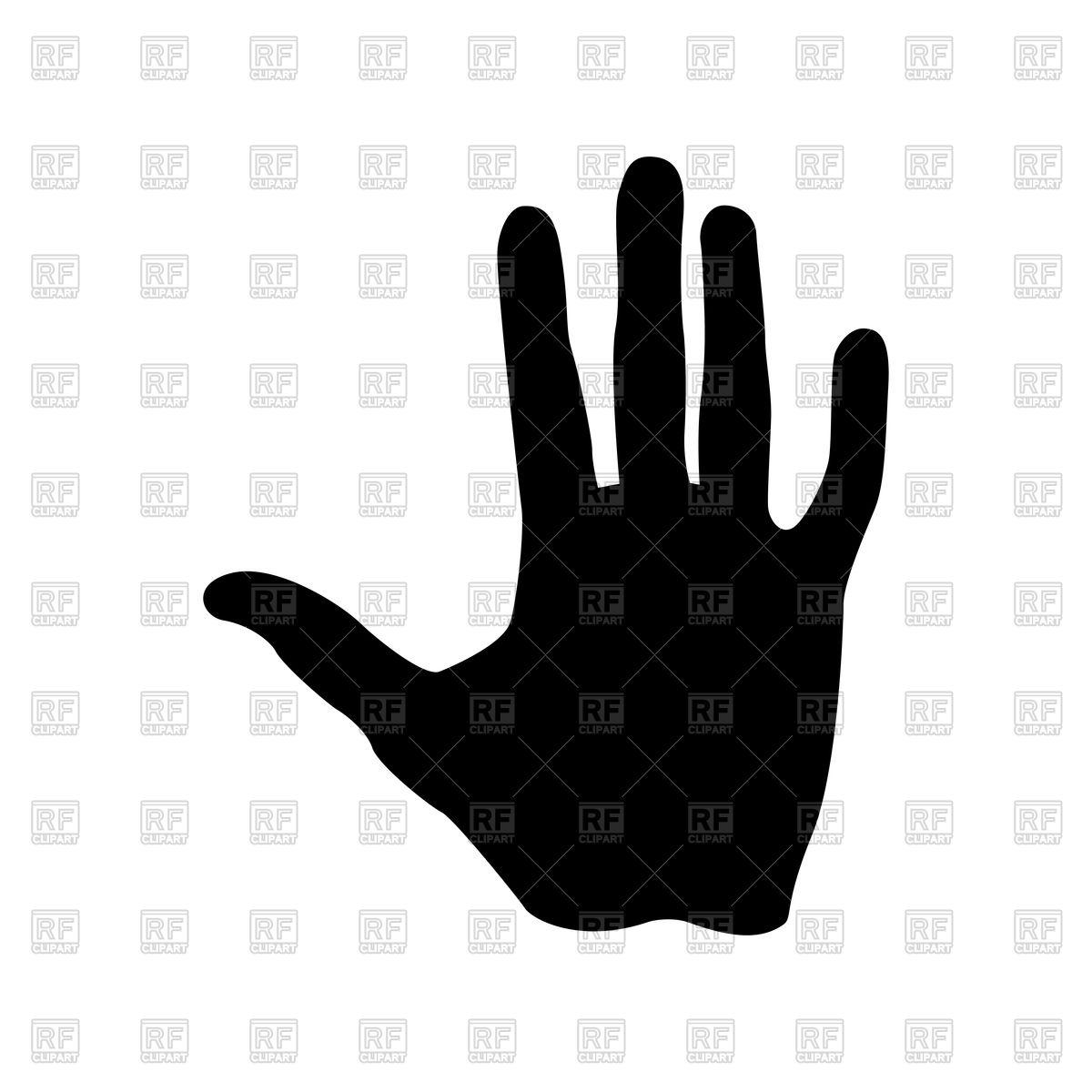 1200x1200 Human Hand Silhouette