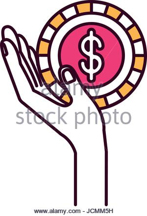 300x442 Silhouette Color Sections Side View Hand Holding In Palm A Earth