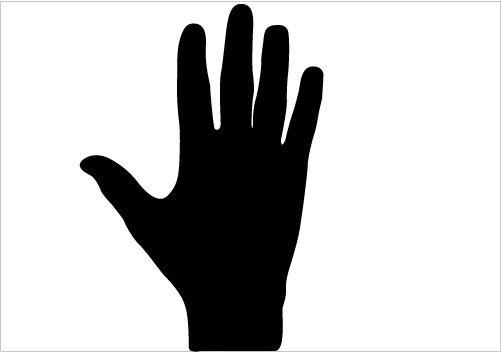 501x352 Hand Silhouette Right Hand Vector Silhouette Get Download