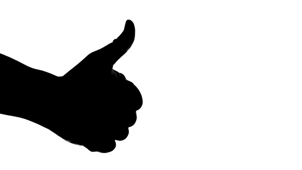 590x332 Silhouette Of A Hand Giving Thumb Up On Left Side By Grey Coast Media