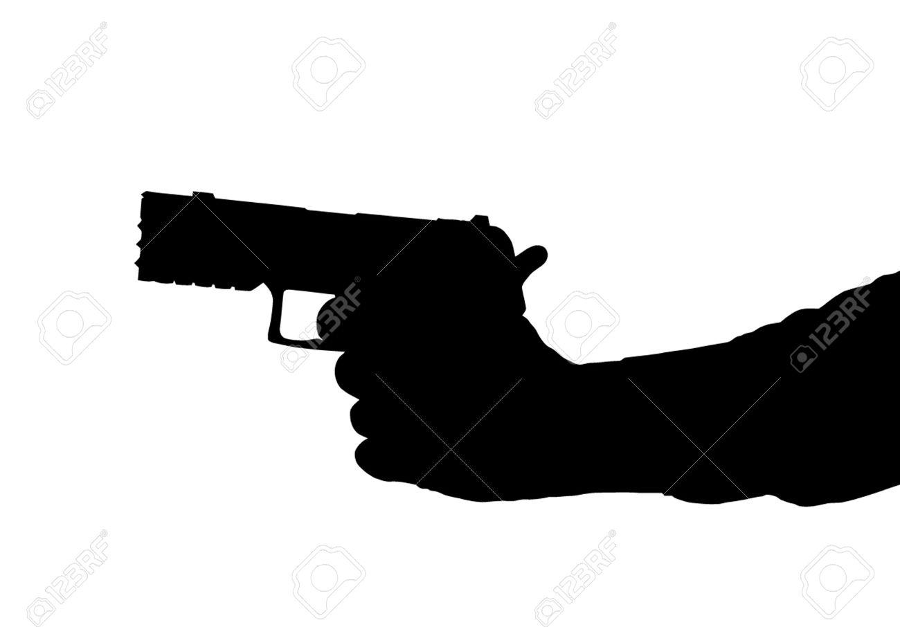 1300x906 Gun Clipart Hand Silhouette