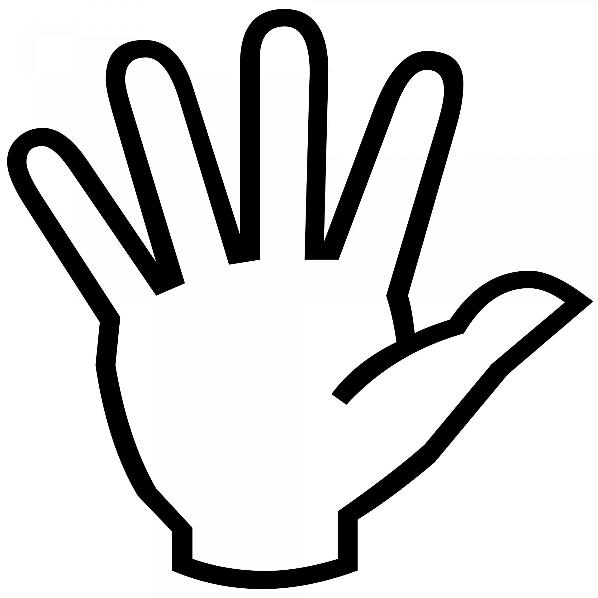 1920x1920 Hand Symbol Silhouette Free Stock Photo