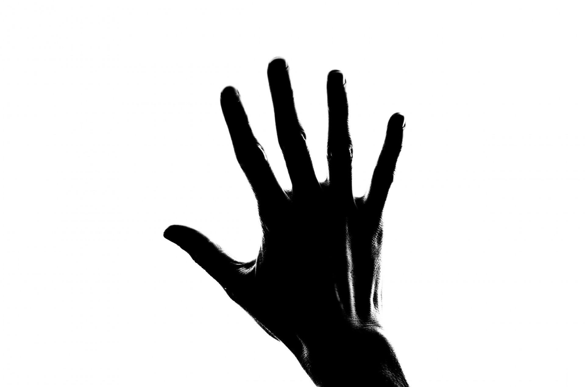 1920x1271 Silhouette Woman Hand Free Stock Photo