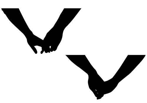 500x350 Silhouette Clipart Holding Hand